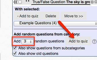 Add random questions
