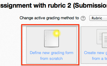 Defing rubric button