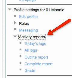 user activity report