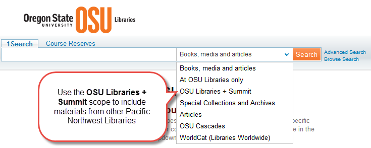 OSU Libraries and Summit scope