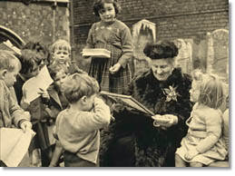 Maria Montessori and children
