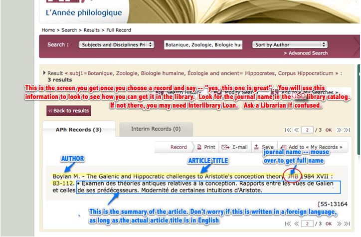L'Annee philologique
