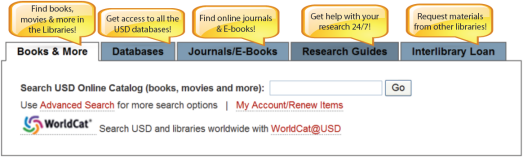 Library homepage search widget