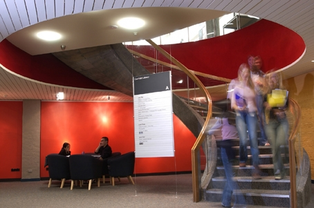 Caulfield library interior stairs