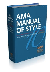 Image of the book cover for AMA Manual of Style.