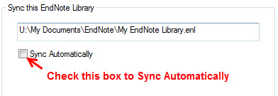 Sync Automatically