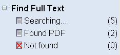 Full Text Search Progress Panel