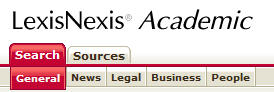 LexisNexis Search Bar