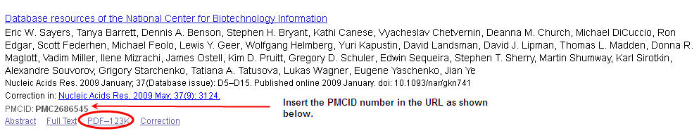 PubMed Central Linking