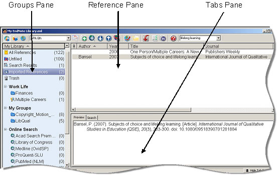 EndNote X3 - Library Window