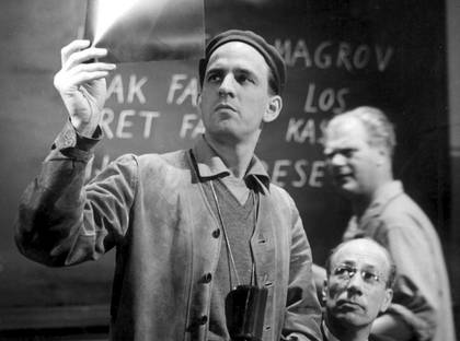 Ingmar Bergman during production of Wild Strawberries (Smultronstället) (1957)