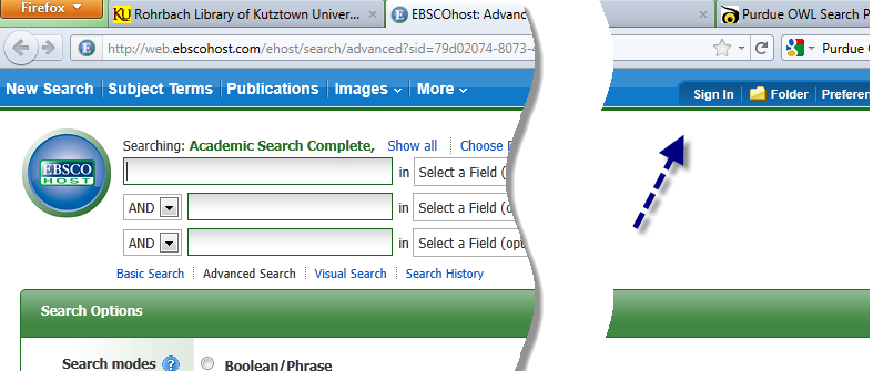 Ebsco Sing In graphic