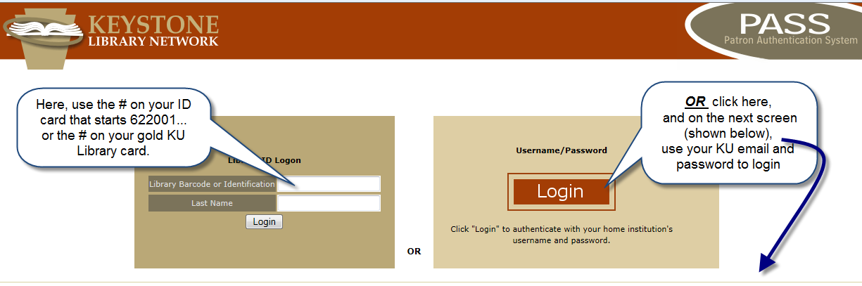 Login to Databases Step 1