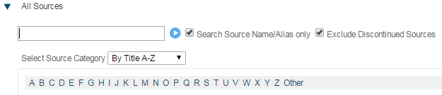 Factiva sources search screenshot