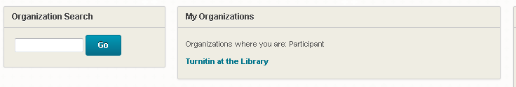 Screenshot of Turnitin at the Library link
