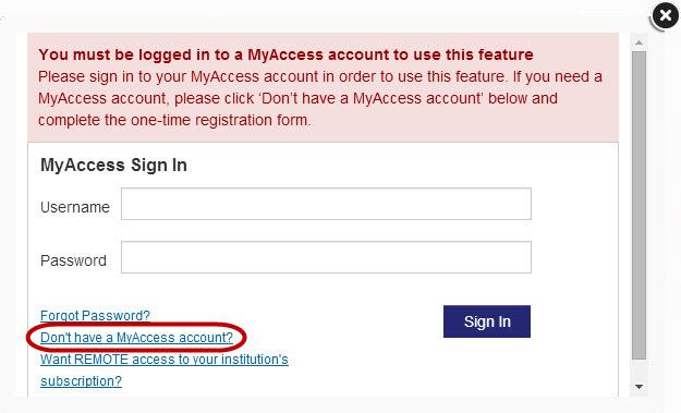 MyAccess signin