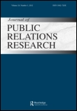 cover of journal of public relations research