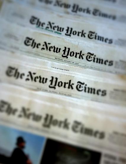 New York Times Newspaper Mastheads