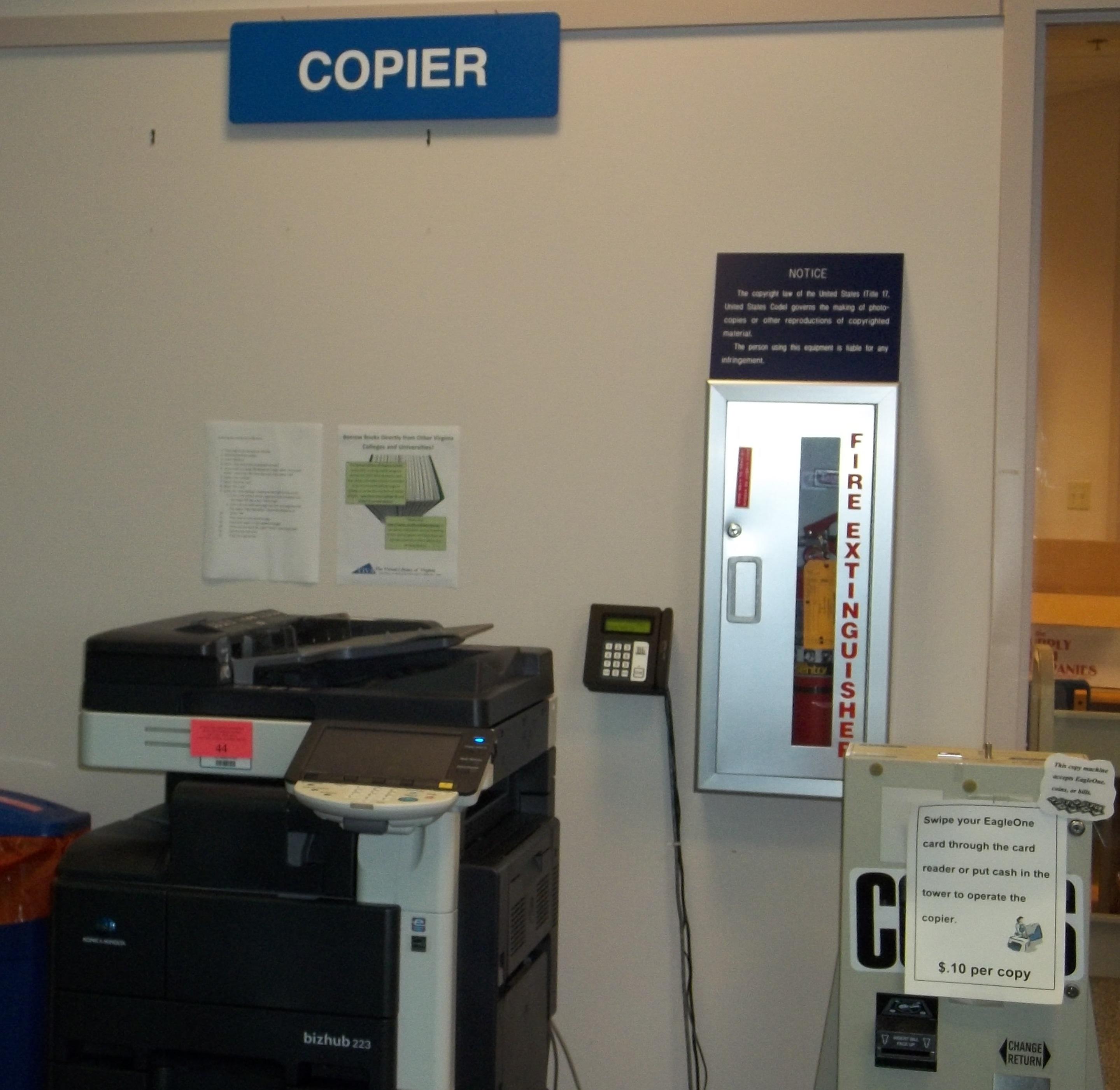 Stafford Campus Library copier