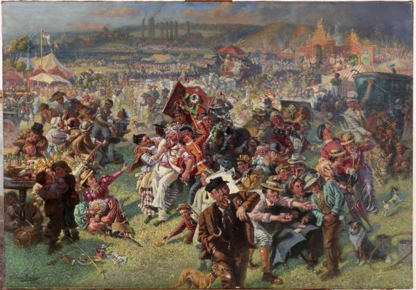 The Blaydon Races - A Study from Life, 1903 (oil on canvas) Irving, William (1866 - 1943) Bridgeman Education