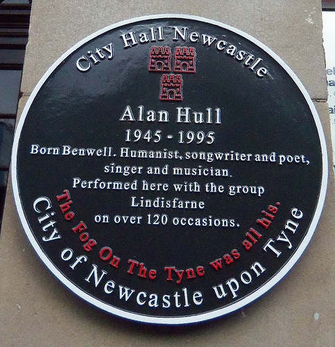Allan Hull Plaque, Newcastle City Hall by Stubbs Family via Flickr