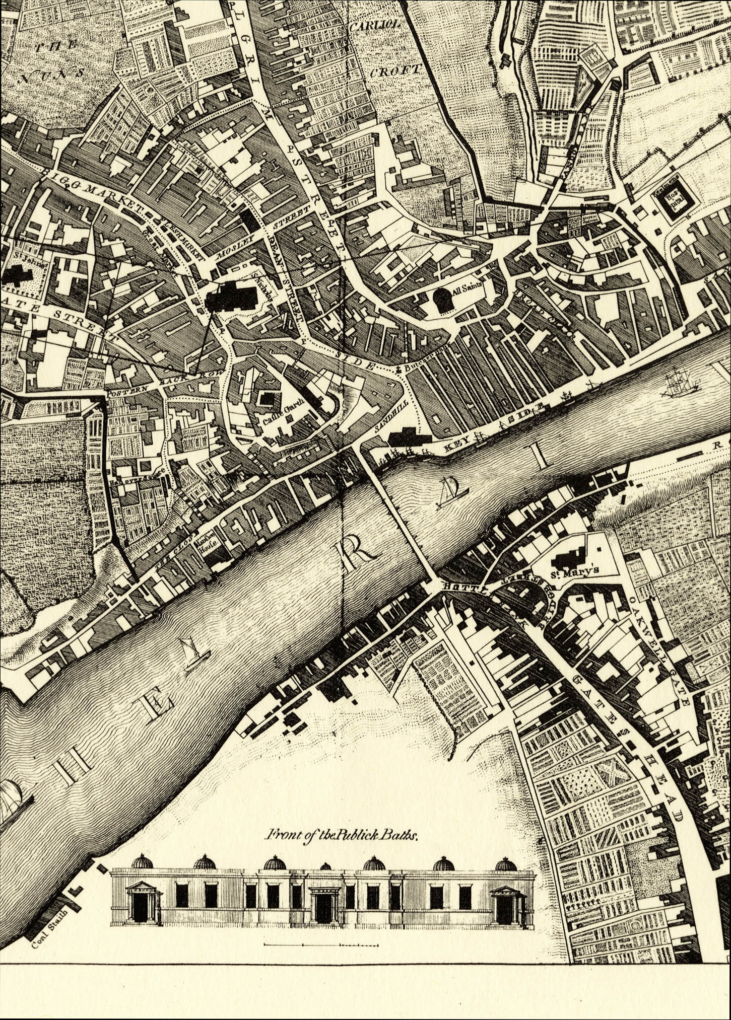 A Plan of Newcastle upon Tyne, 1778 (Special Collections: Maps collection)