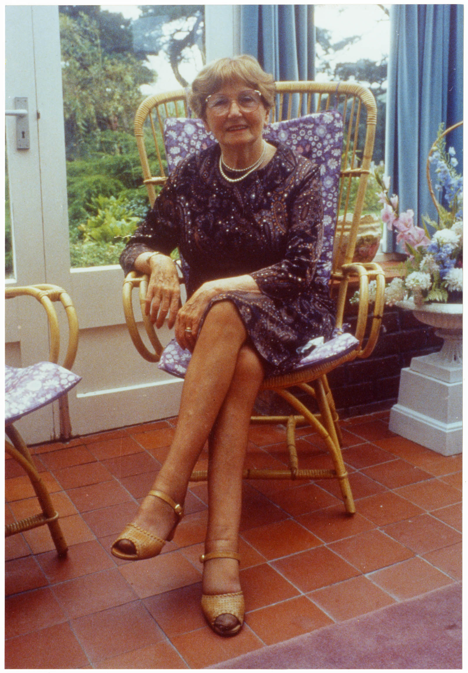 Uncatalogued photograph of Catherine cookson at home - 1985 (Special Collections: Catherine Cookson Collection)