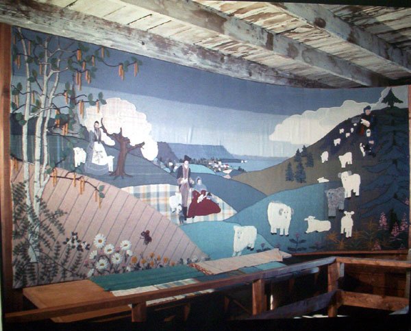 Mural, Wool, Barrington Mill