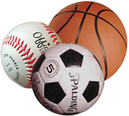 Image of Baseball, Basketball, and soccerball