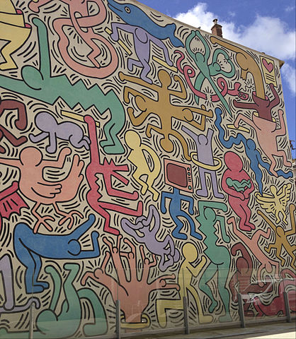 photo of keith haring mural