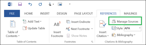 Create citations in word