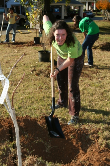 Tree Planting @ Library