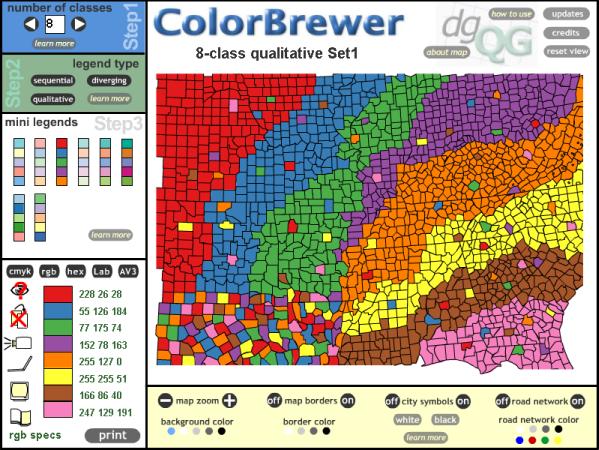 color brewer screen shot