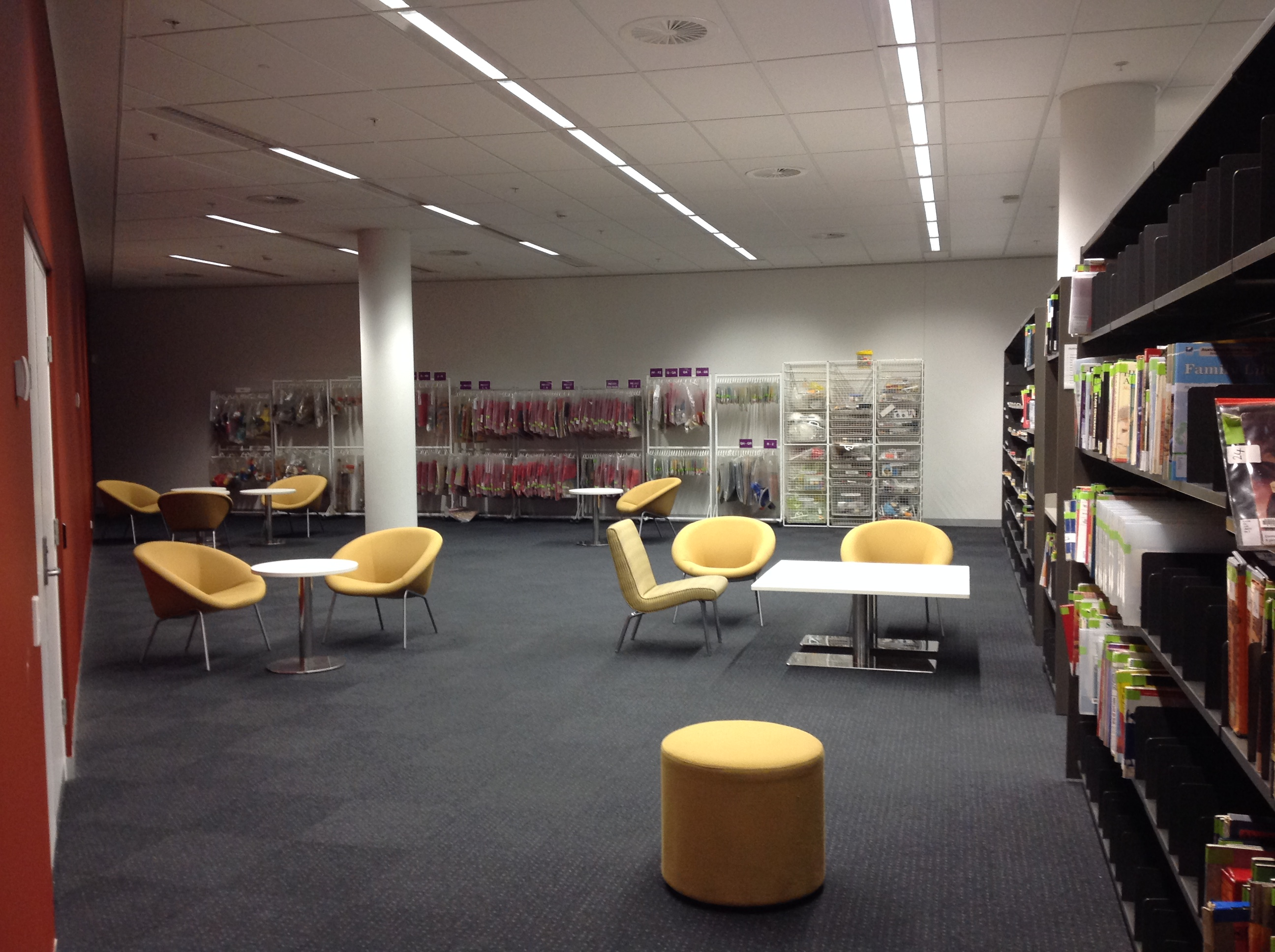 Curriculum collection area on Level 1