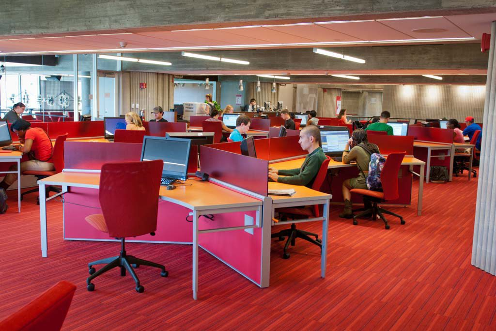 Picture of students working in the Learning Commons