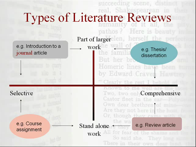 Illustration for types of literature review