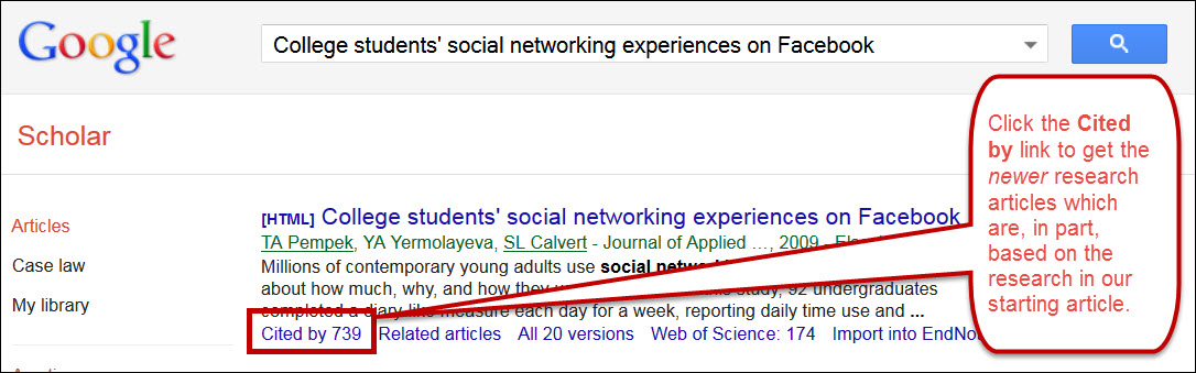 "google scholar ""cited by"" link"
