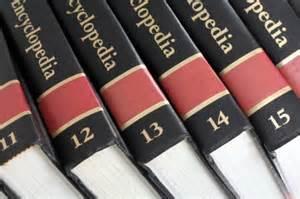 stack of encyclopedias