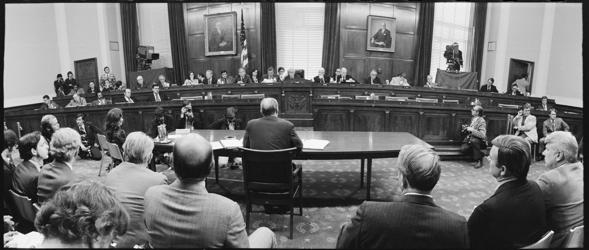 President Ford Testifies Before House Judiciary Committee on Nixon Pardon by Thomas J. O'Halloran, October 1974 (LOC)