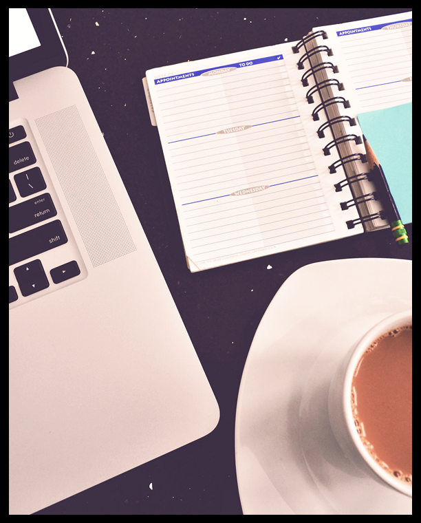 Coffee Planner and Computer