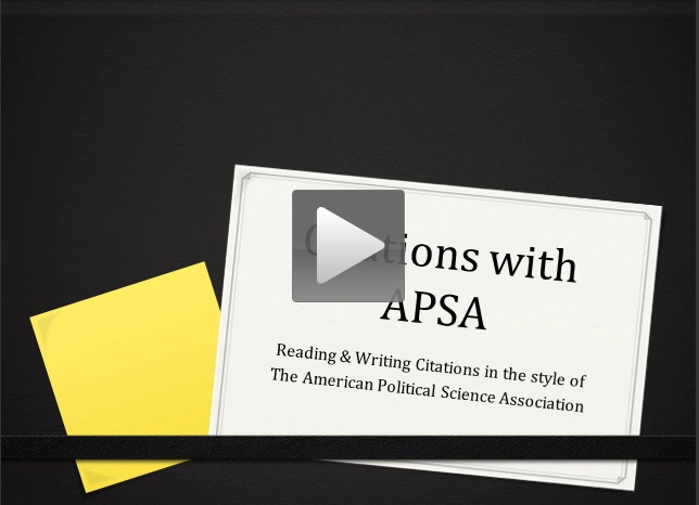 Citations with APSA