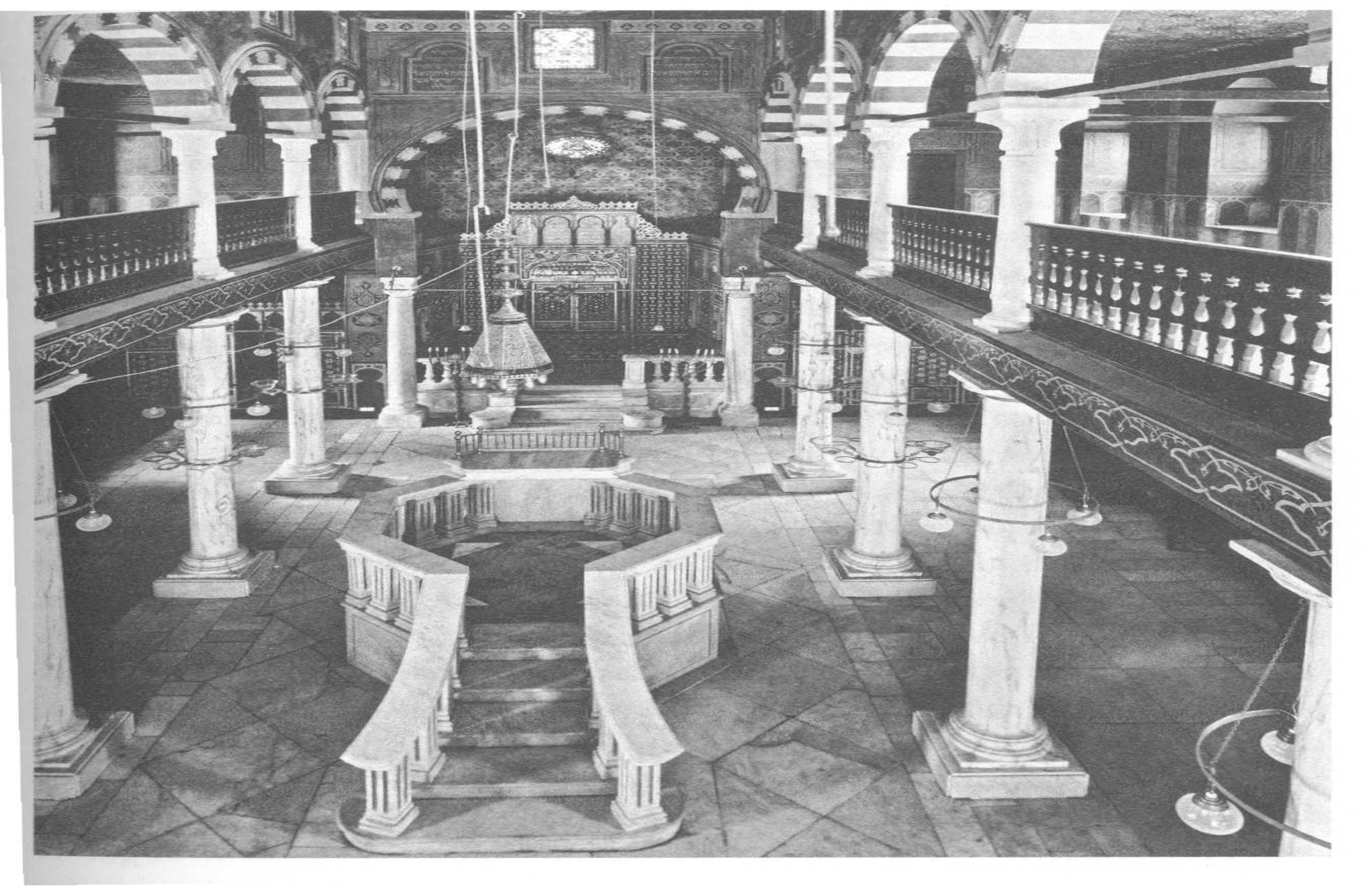 Photo of the Ibn Ezra Synagogue, the synagogue of Maimonides, in which the Cairo Geniza is found