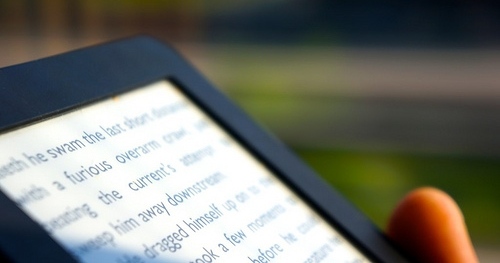 photo of ebook reader