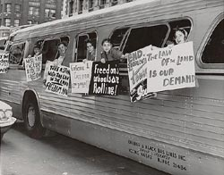 "Members of the ""Washington Freedom Riders Committee"""