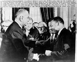 Lyndon Johnson and Martin Luther King