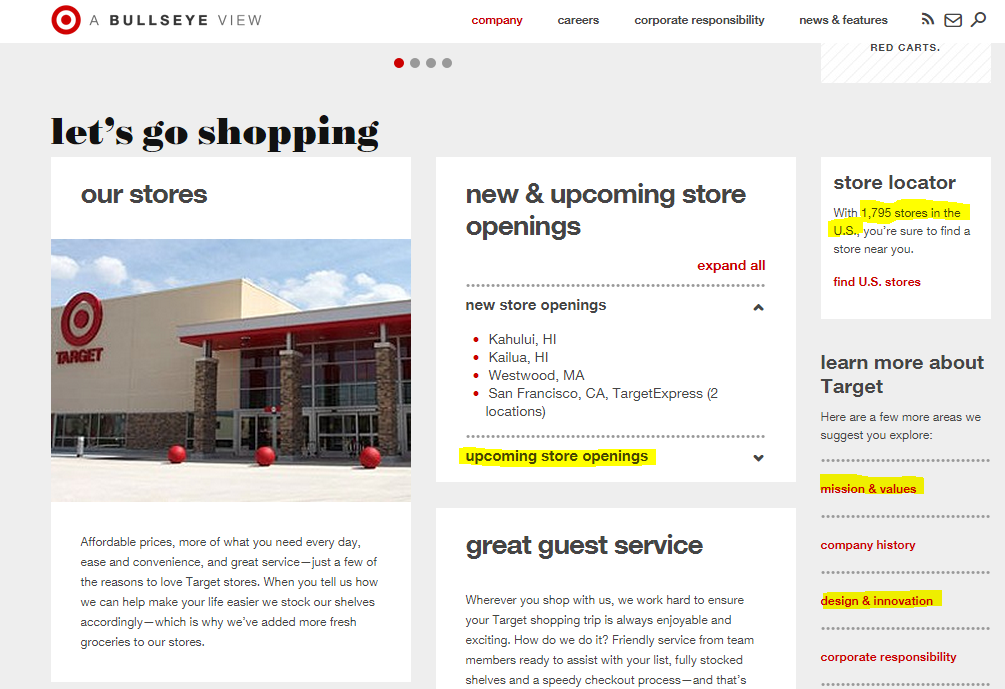 Target Corporate website