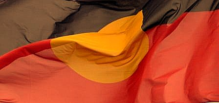 Aboriginal flag blowing in the wind