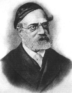 Portrait of Rabbi Shimshon Raphael Hirsch, founder of Modern Neo-Orthodox in Frankfurt am Main