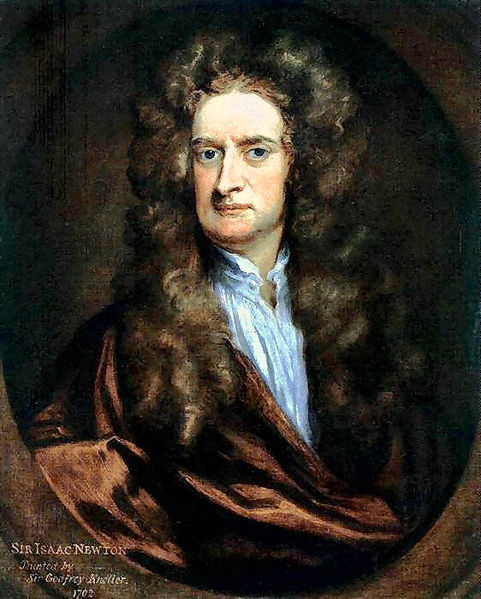 Portrait of Sir Isaac Newton author of the Principia