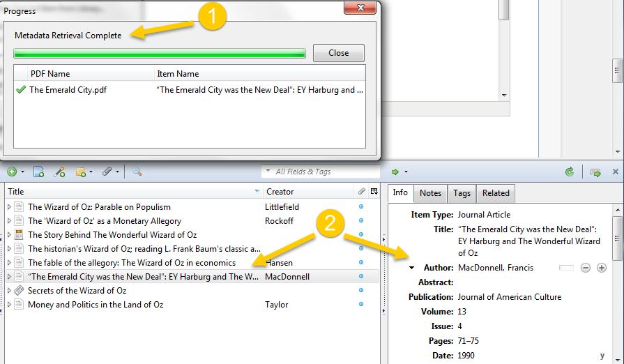 Metadata retrieval complete